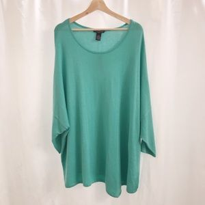 Chelsea & Theodore Sweaters - CHELSEA & THEODORE PLUS SIZE SWEATER TEAL